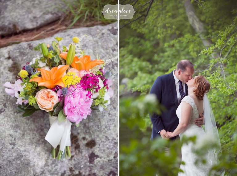 Colorful photography of a New England summer camp wedding on Squam Lake in NH.