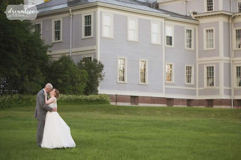 Historic wedding venue at a mansion outside of Boston.