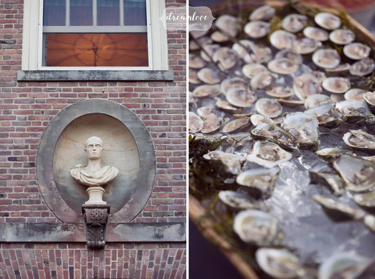 Raw oyster bar at the Crane Estate in MA.