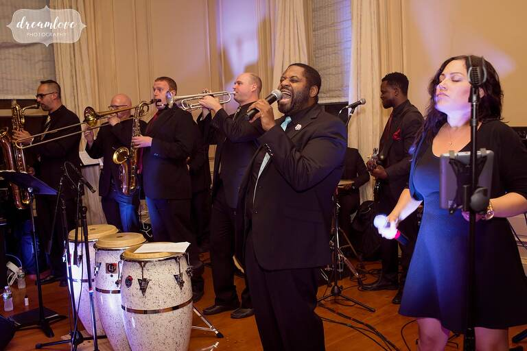 Soul City performs during the Crane Estate wedding.