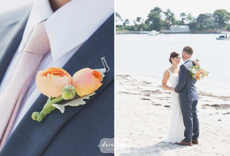 Natural Beach Wedding Photography Of The Bride And Groom In Manchester Ma
