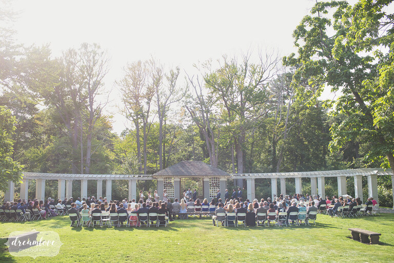 Estate style backyard Manchester by the Sea wedding.