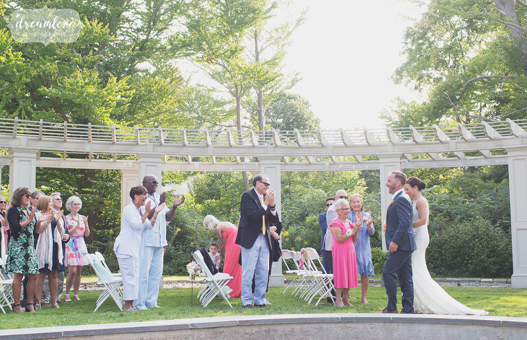Sunbursty Wedding Ceremony In Manchester By The Sea Ma