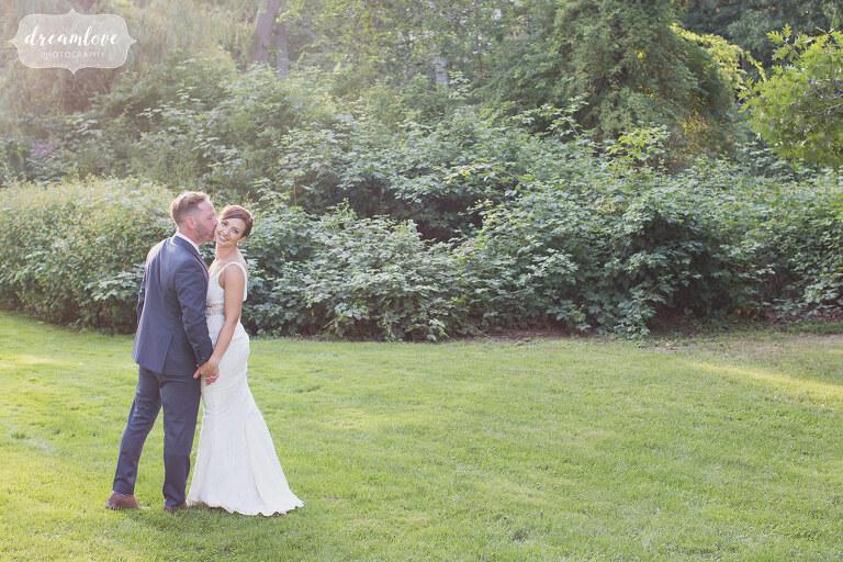 Romantic backyard wedding on the north shore of MA.