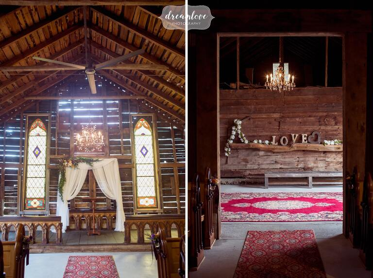 Bishop Farm now has an indoor wedding ceremony space in the old dairy barn.