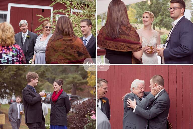 This September wedding at the Bishop Farm barn venue was beautiful with foliage and red barns!
