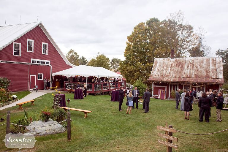 This outdoor cocktail hour at the Bishop Farm in September.