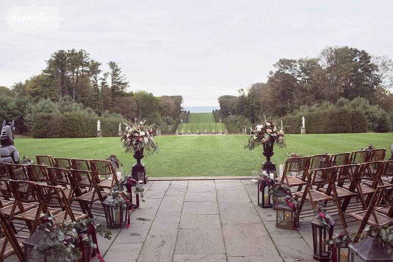 This coastal wedding ceremony venue gives guests an ocean view at the Crane Estate.