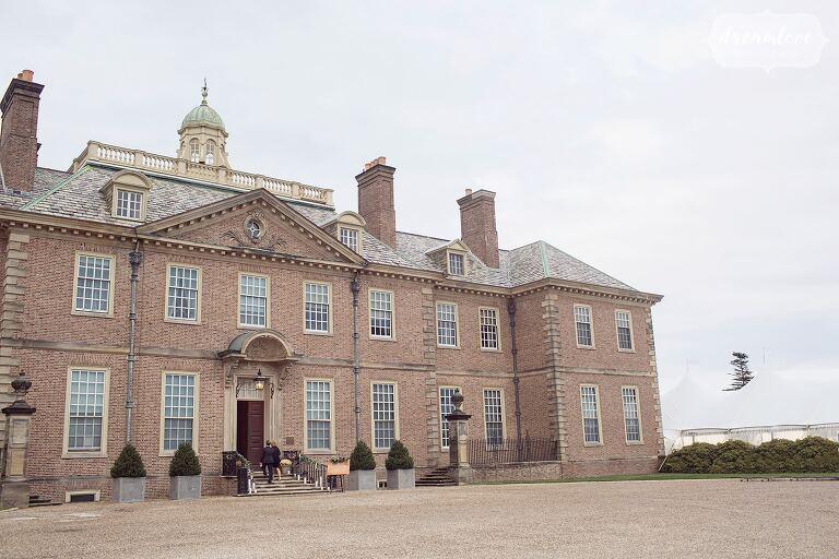 Front view of the Great House on Castle Hill at this coastal venue.