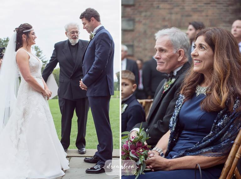 As candid wedding photographers we love to capture photos of wedding guests and parents watching the ceremony.