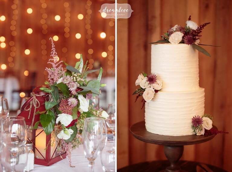 Fall wedding floral centerpieces-twinkle-lights
