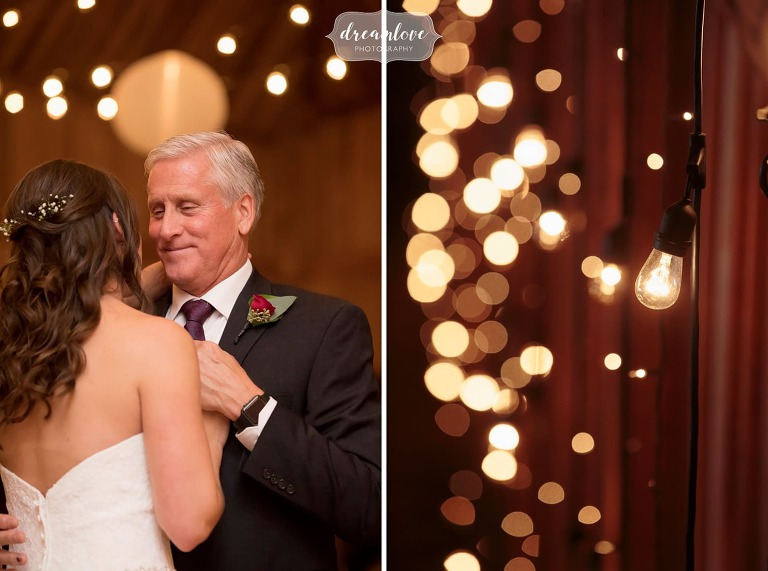 Father daughter dance at the Crystal Lake Pavilion on Crystal Lake.