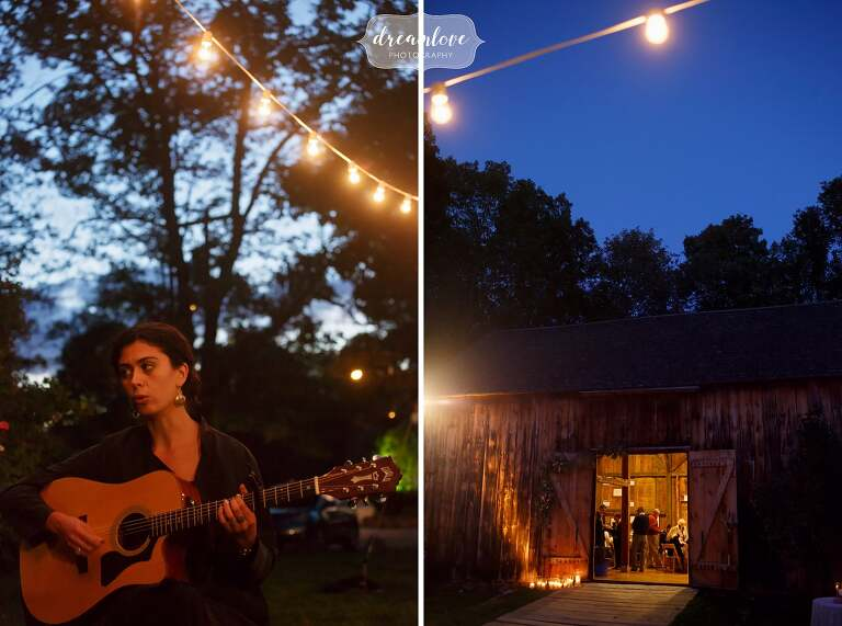 This trio of women played gorgeous folk music with stringed instruments at the Gould Barn.