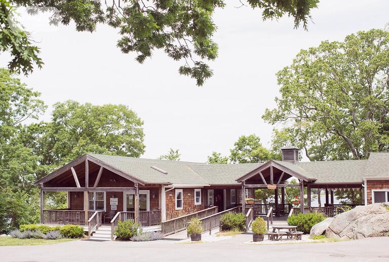 This NY camp wedding venue at Quinipet Retreat Center.