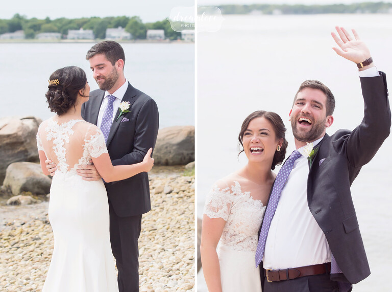 These happy and candid photos from this NY camp wedding on the ocean are our favorite.