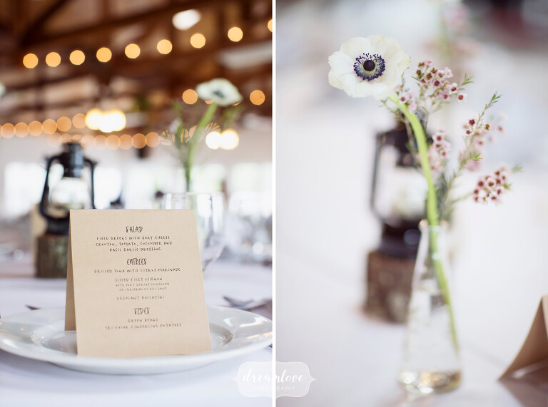 We loved these kraft paper menus at this NY camp wedding in the woods.