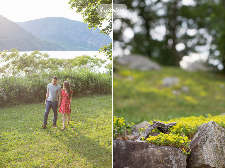 Cold Spring, NY engagement photos in nature of Hudson Valley.