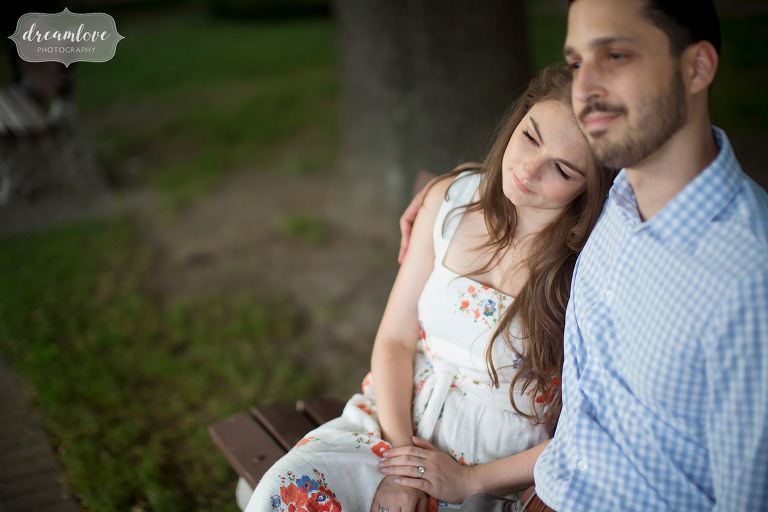 Candid style engagement session in Cold Spring, NY.