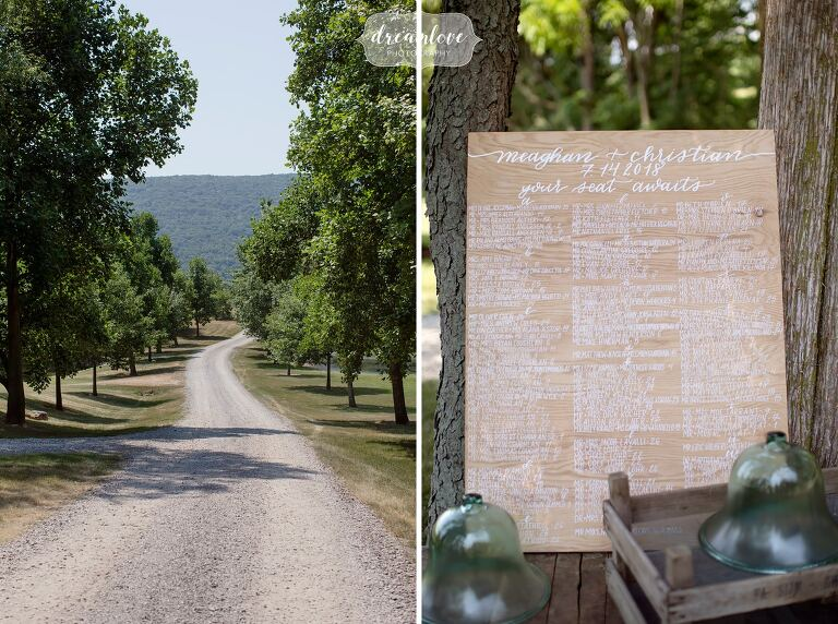 Beautiful country wedding venue in central PA at One Barn Farm.