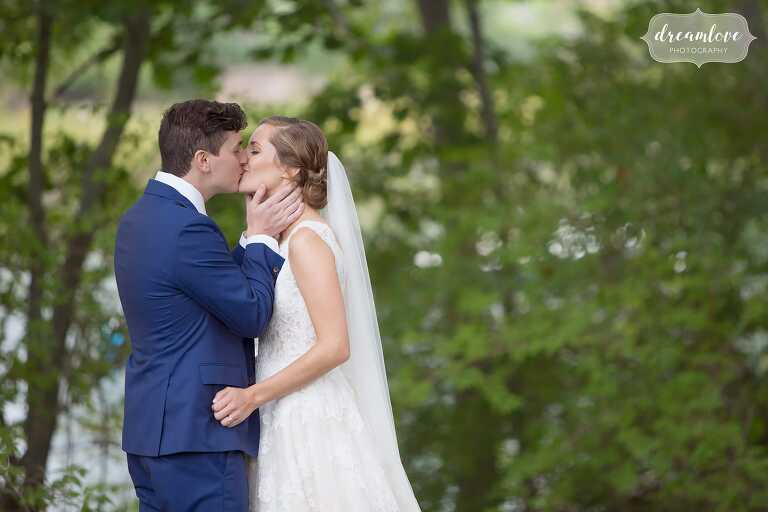 Romantic bride and groom portraits for this wedding on the North Shore.