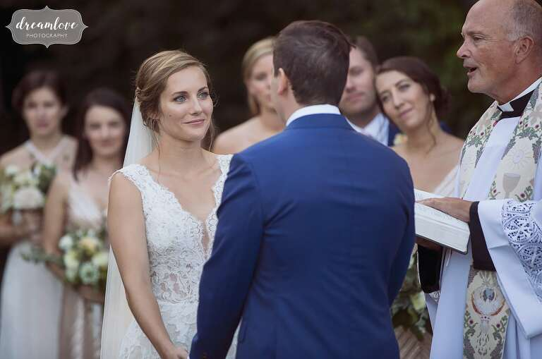 Photojournalistic wedding photography coverage of bride and groom just north of Boston.