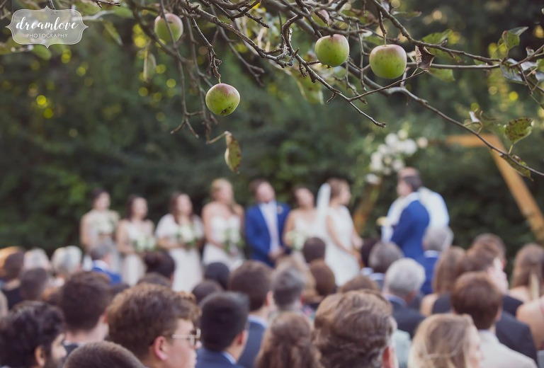 Artistic photography of outdoor wedding ceremony on the North Shore of MA.