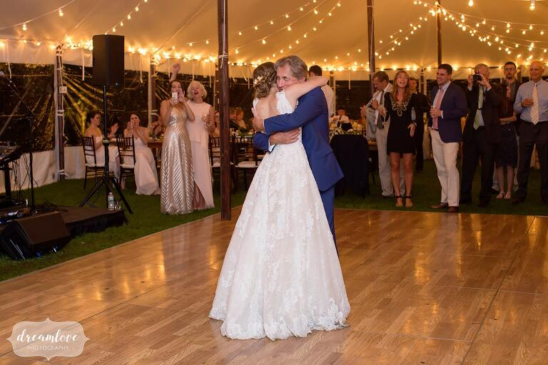 Father and daughter dance at this North Shore wedding.