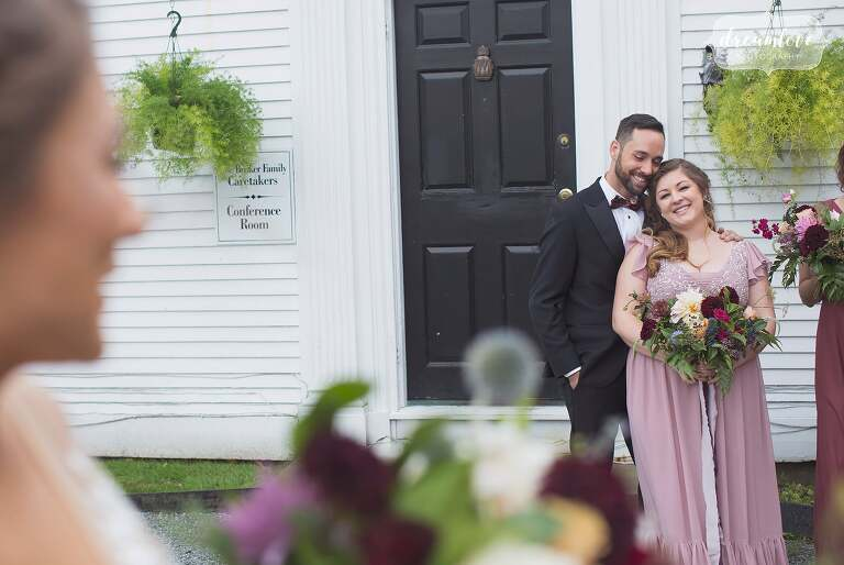 As a RI documentary wedding photographer I love capturing moments like this of the bride's sister and bestie.
