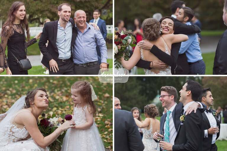Relaxed wedding photography at Linden Place.