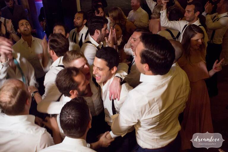 The wedding guests mosh pit at the Linden Place in RI.
