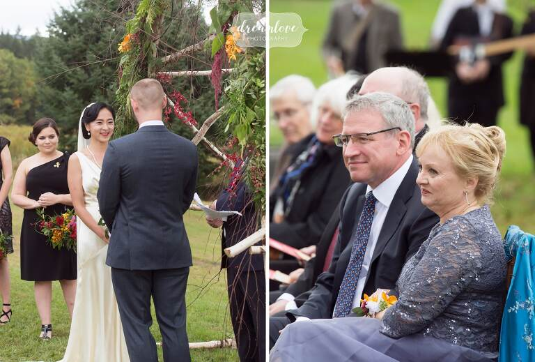 As a documentary wedding photographer, this October Catskills backyard wedding had so many beautiful moments.
