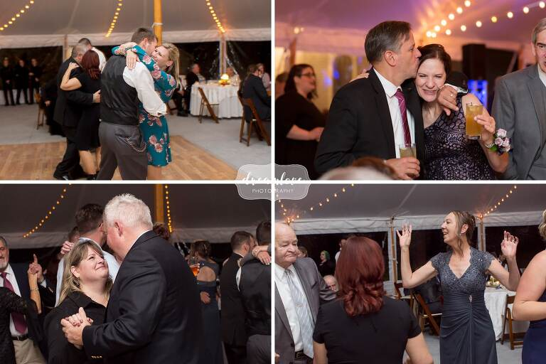 Guests dance under tent at Glen Magna Farms in October.