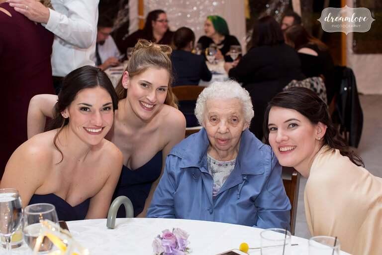 Sweet grandmother photo at Glen Magna Farms wedding.