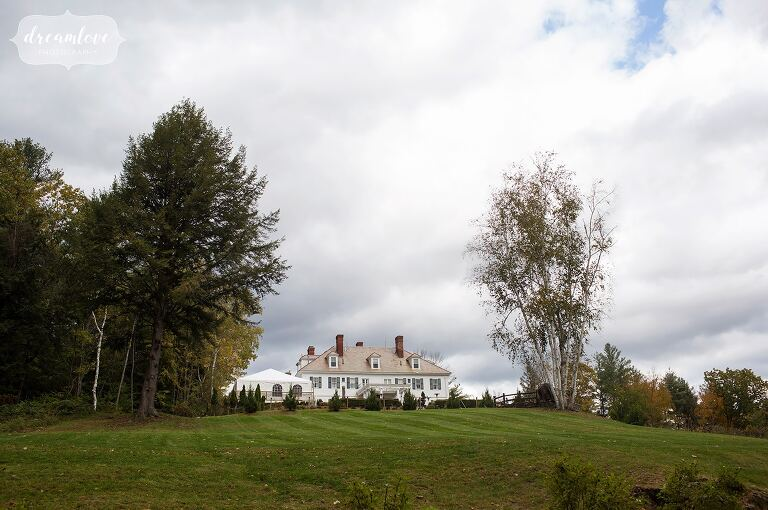 Stunning mansion wedding venue on the hill in Windsor, VT.