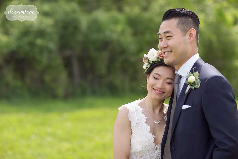 Hudson valley wedding photographer captures happy couple in Ghent, NY.