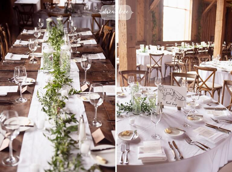 Rustic tablescapes at High Lonesome Lodge in Rocky Mountains.