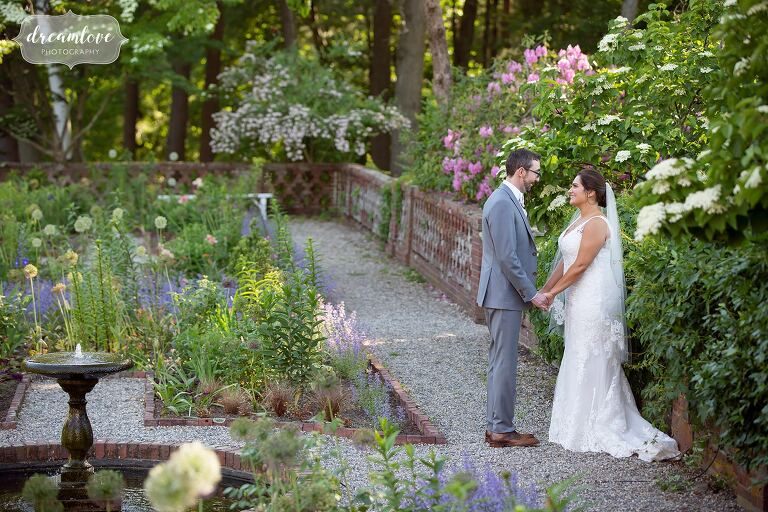 English garden wedding venue near Boston.