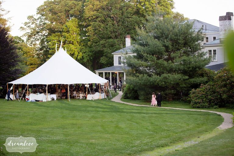 View of the Lyman Estate wedding tent.