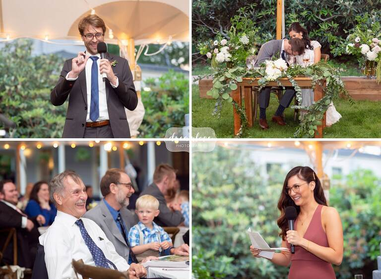 Great wedding toasts at the Lyman Estate.