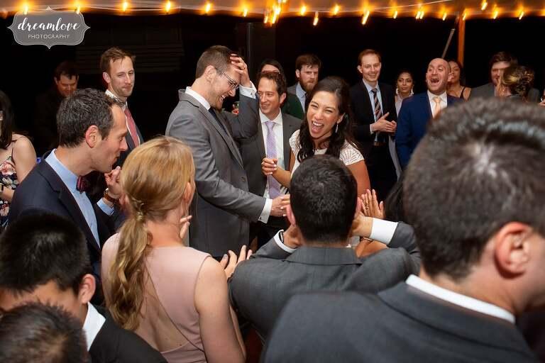 Bride emo dancing Lyman Estate.