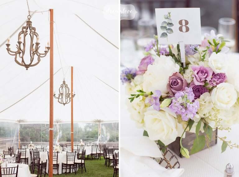 Luxury estate wedding reception near Boston, MA.