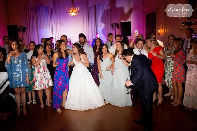 Crane Estate wedding dance floor.