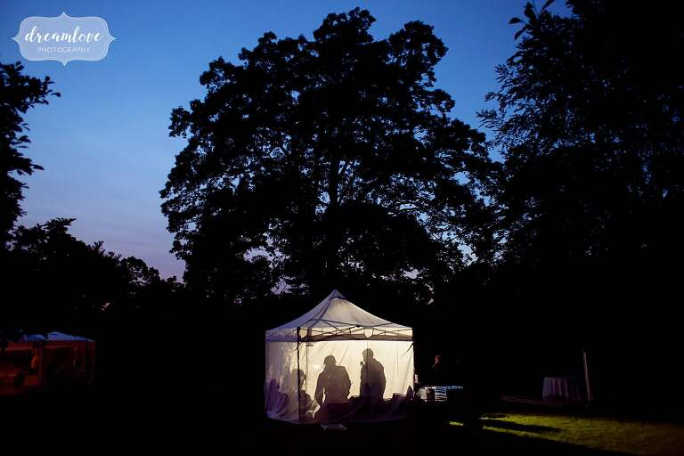 Artistic wedding photography at the Bradley Estate with moonlight and shadows.