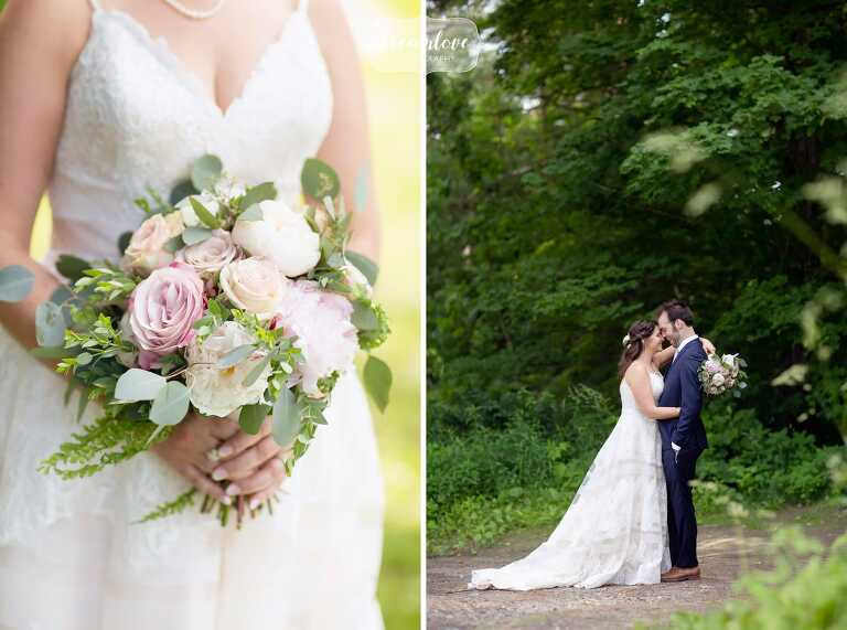 Romantic wedding photos at the Warfield House Inn in Charlemont, MA.