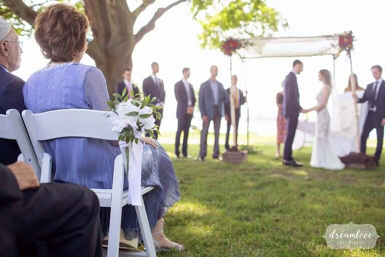 Creative wedding photography on Thompson Island.