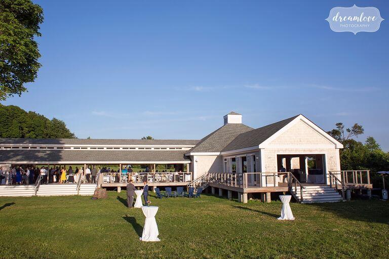 Seaside Boston wedding venue on Thompson Island.