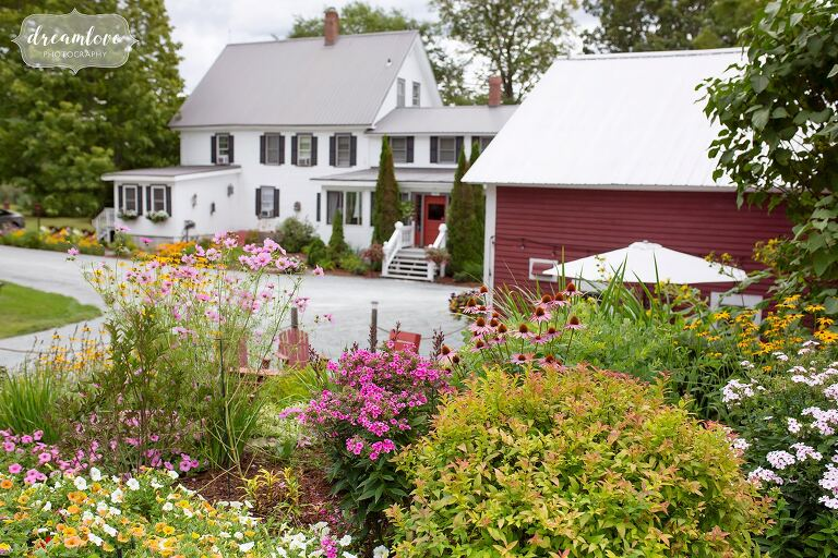 View of the Bishop Farm wedding venue guest house.