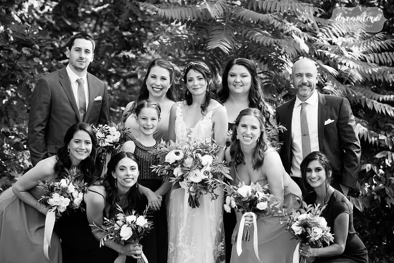 Bridesmaids at this Kennebunkport wedding.