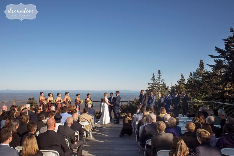 Stunning mountain wedding at Stratton Resort in VT.