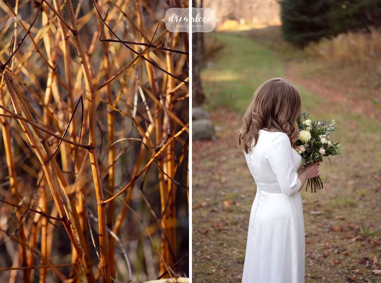 Warm toned wedding photography at Stratton, Vermont.